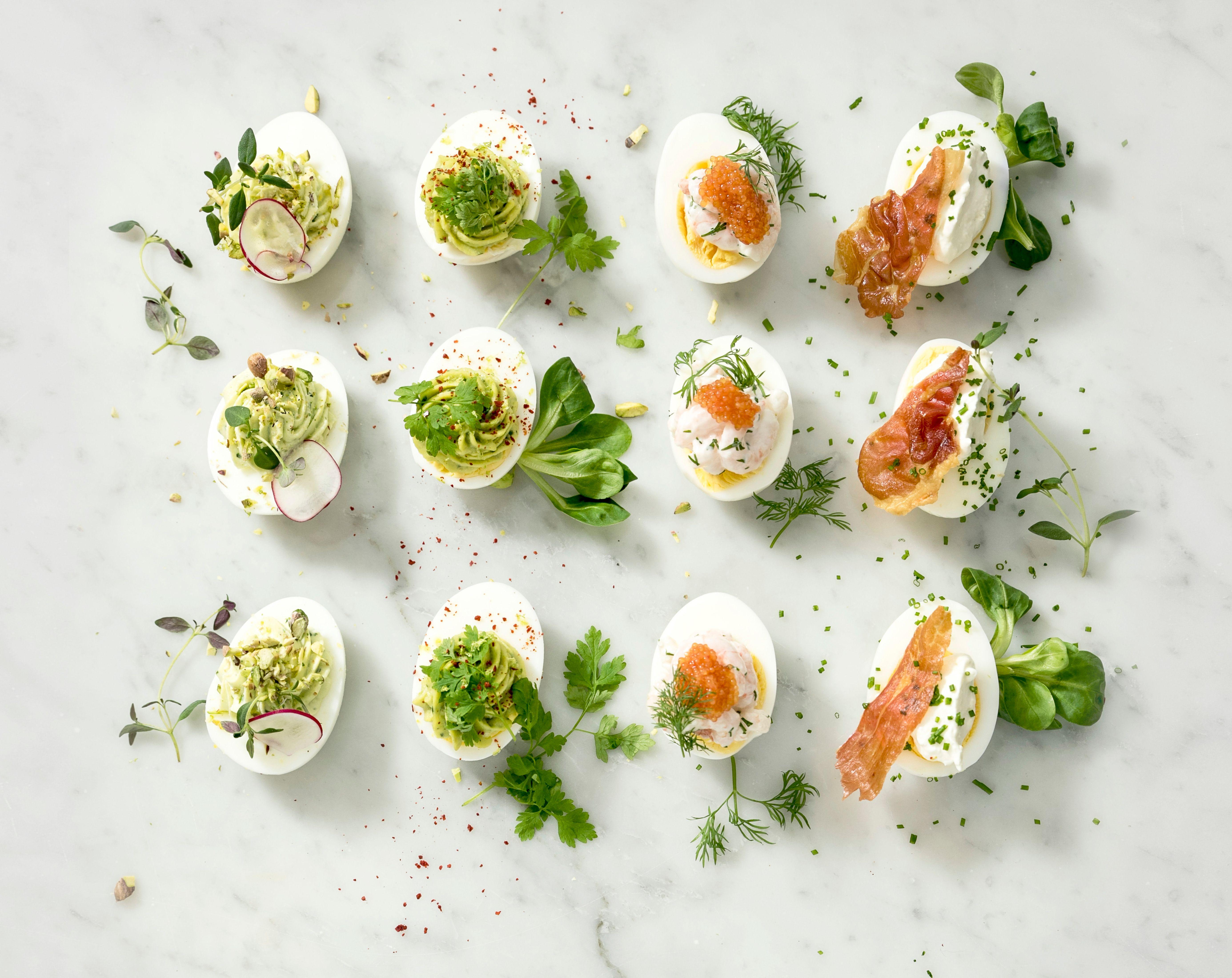 Fira med ägghalvor