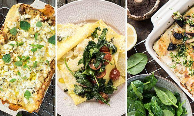 Vegetarisk lasagne - topp 3!