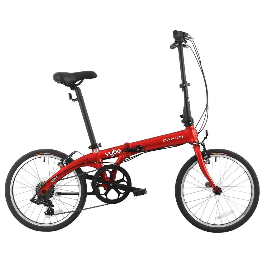 Folding red bike