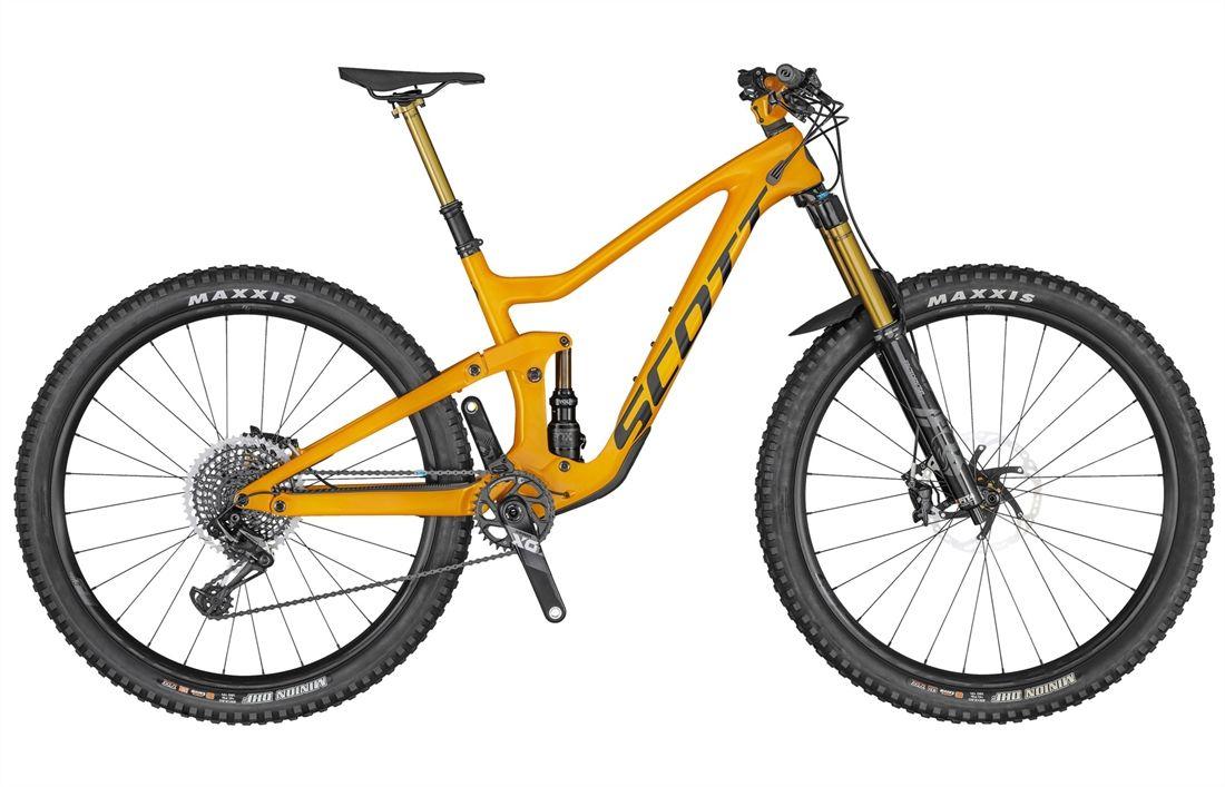 Gold Scott mountain bike