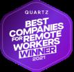 Quartz Best Companies for Remote Workers Winner 2021