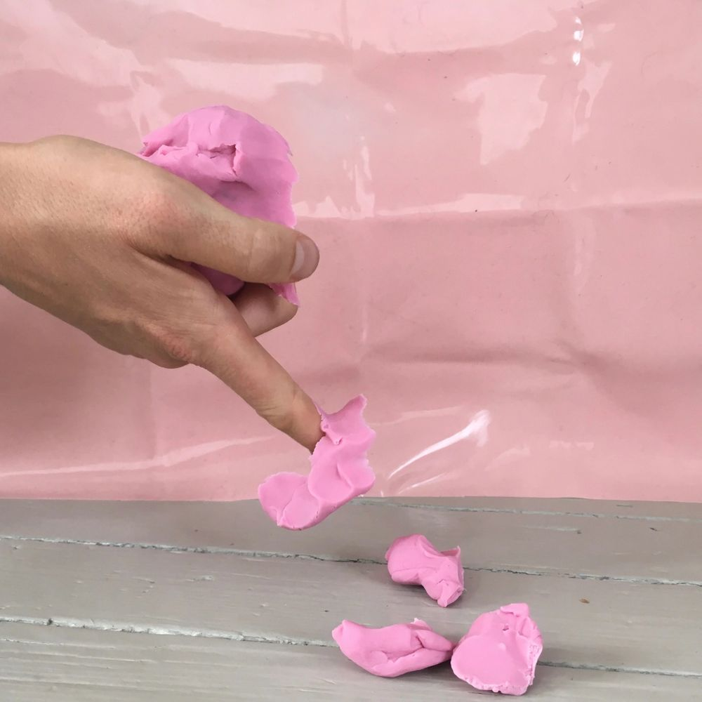 Pink modelling clay