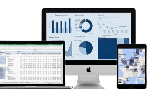 Jet Reports grafer, brugbar på PC, mobile, bærbar PC