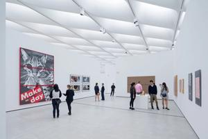 Gallery featuring work by Barbara Kruger, Cindy Sherman, Richard Prince and Sherrie Levine