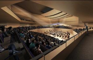 View of the main concert hall