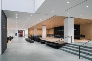 Interior view of The Museum of Modern Art Lobby, West Connector
