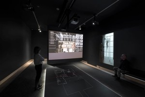 Projected clipping plane view of the Maison de Verre with corresponding filmed vignette