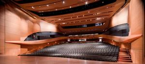 Alice Tully Hall as seen from the stage