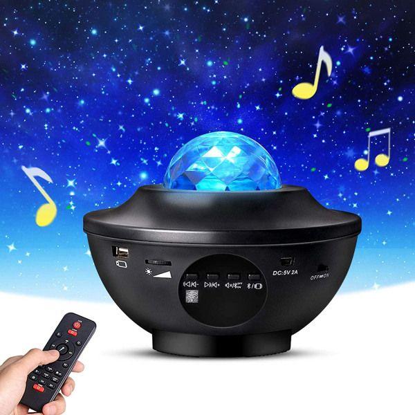 Stjärnprojektor LED med inbyggd högtalare