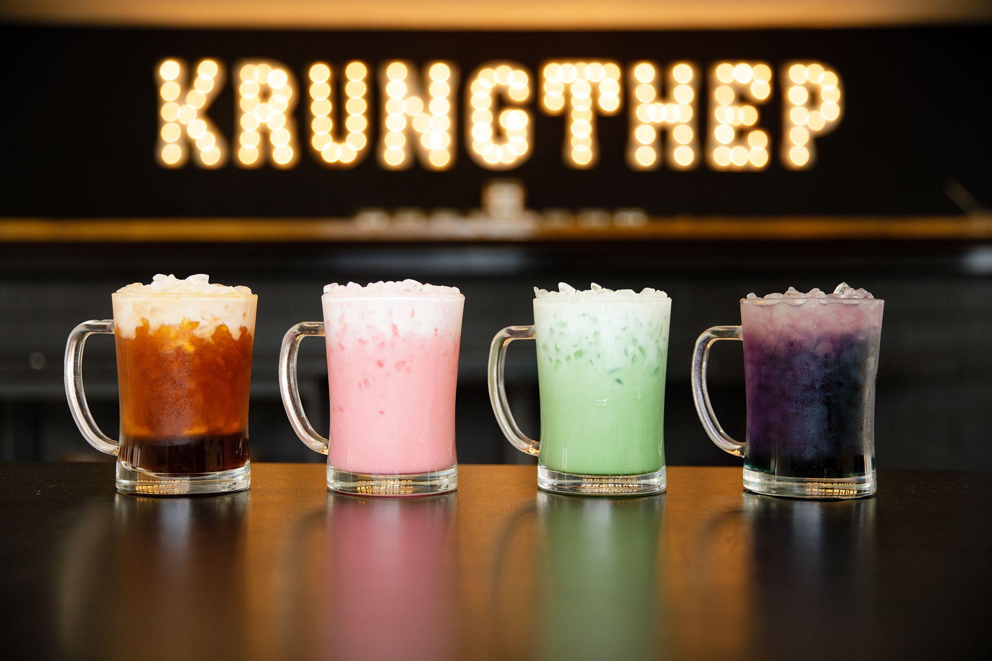 Rainbow teas at local tea room, Krungthep