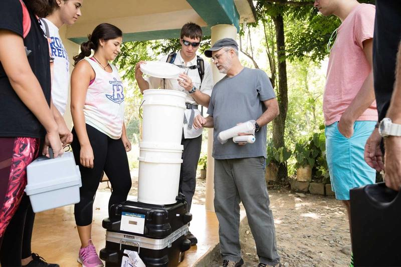 Rollins students in Costa Rica.