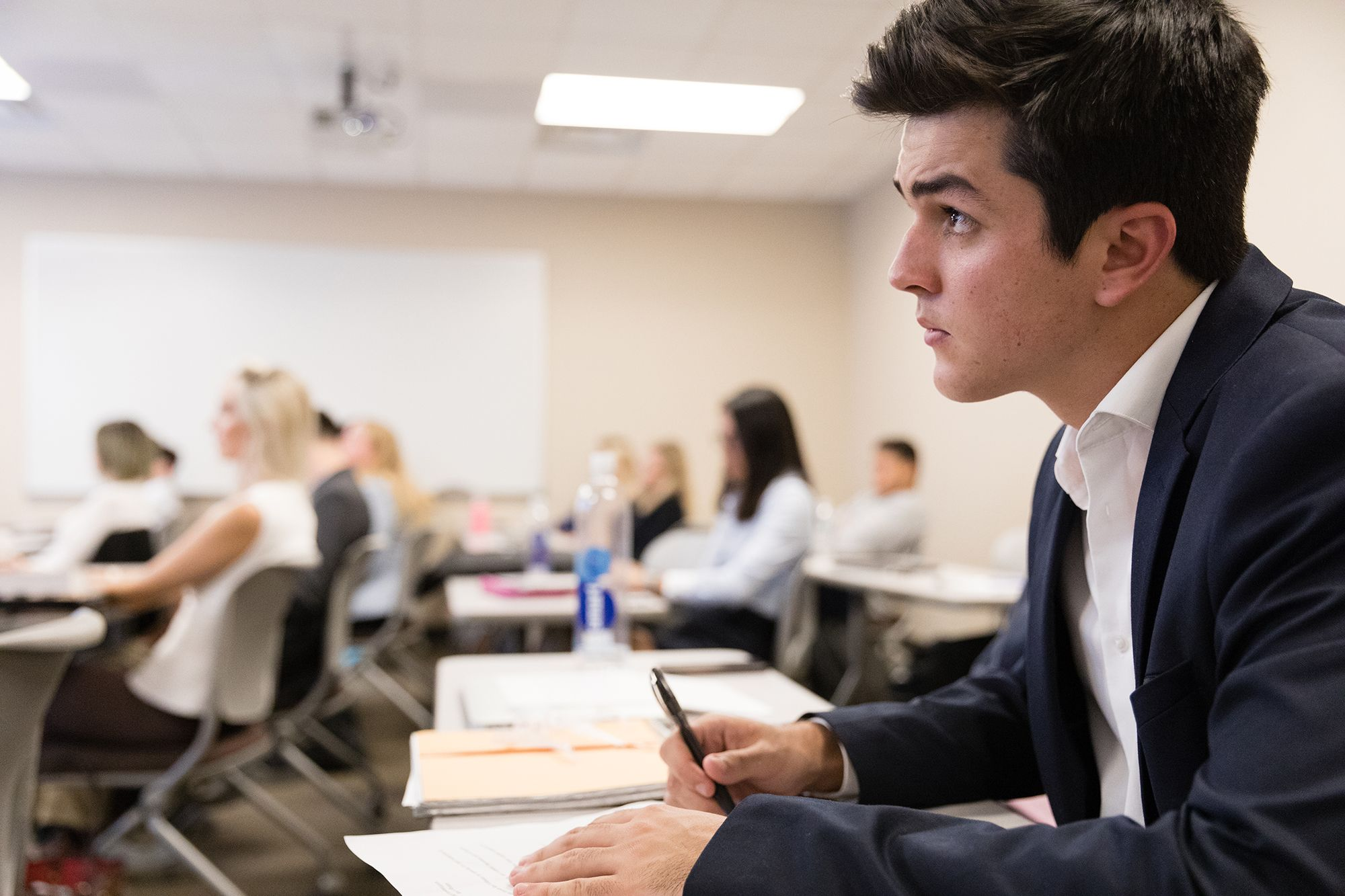 Rollins International Business students in a seminar.