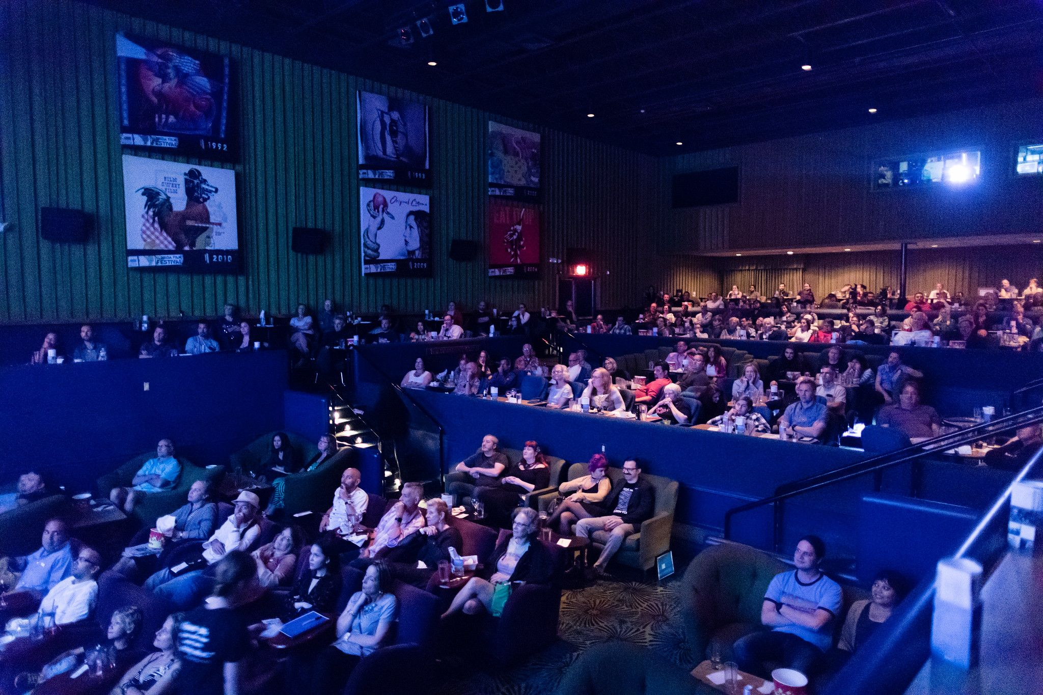 An audience watches Back to the Future at the Florida Film Festival