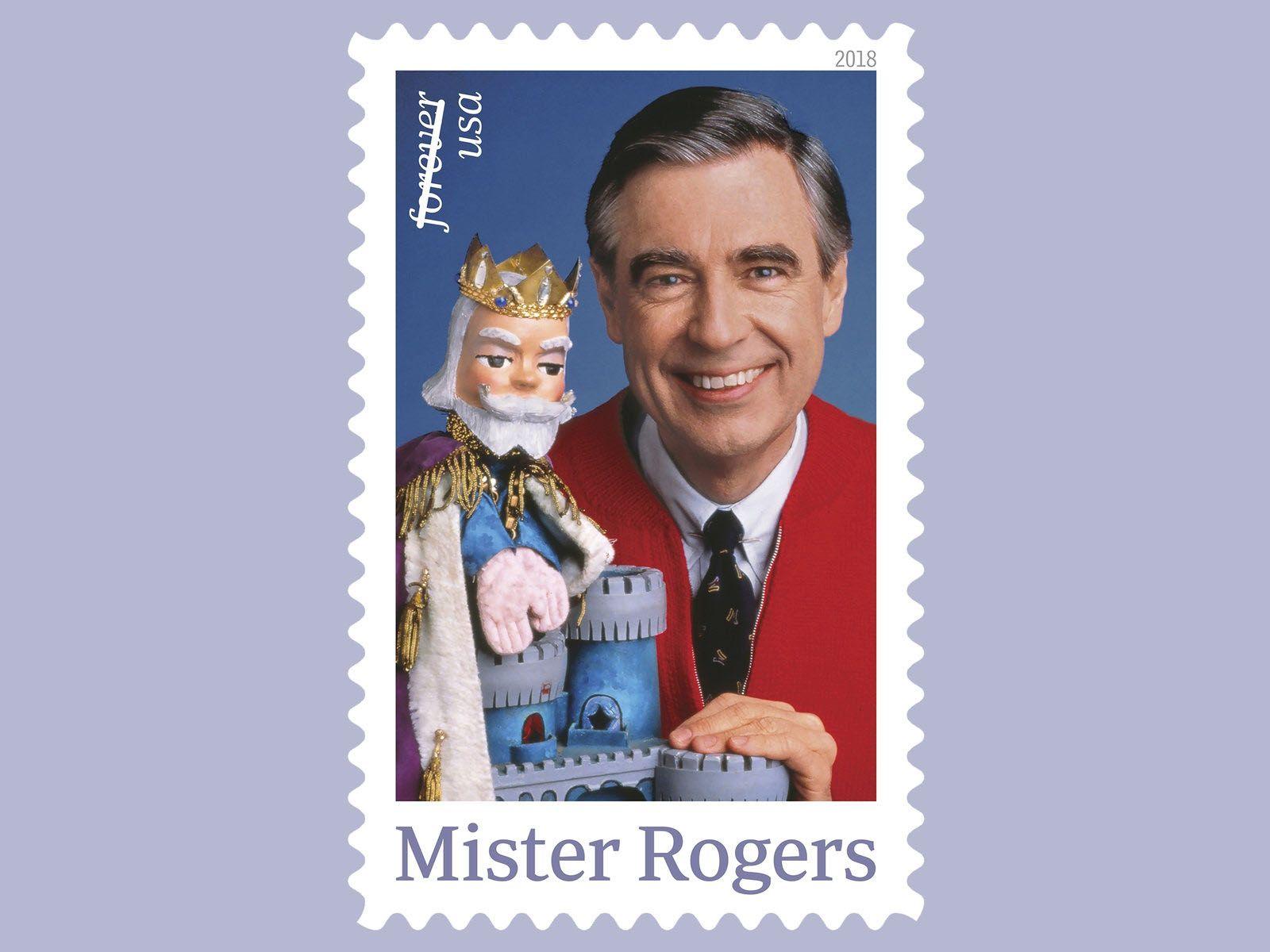 Mister Rogers commemorative U.S. postage stamp