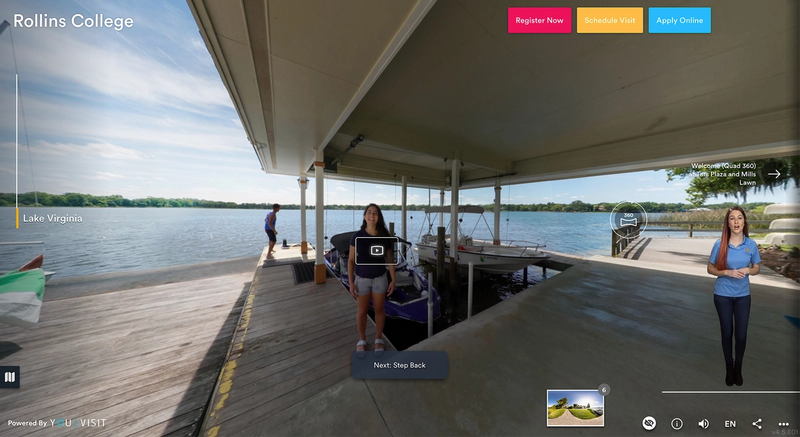 Lake Virginia stop on the Rollins Virtual Tour