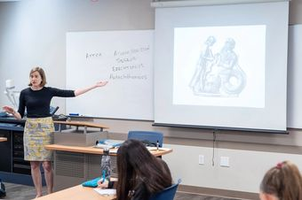 History professor Hannah Ewing discusses images from Ancient Greece.