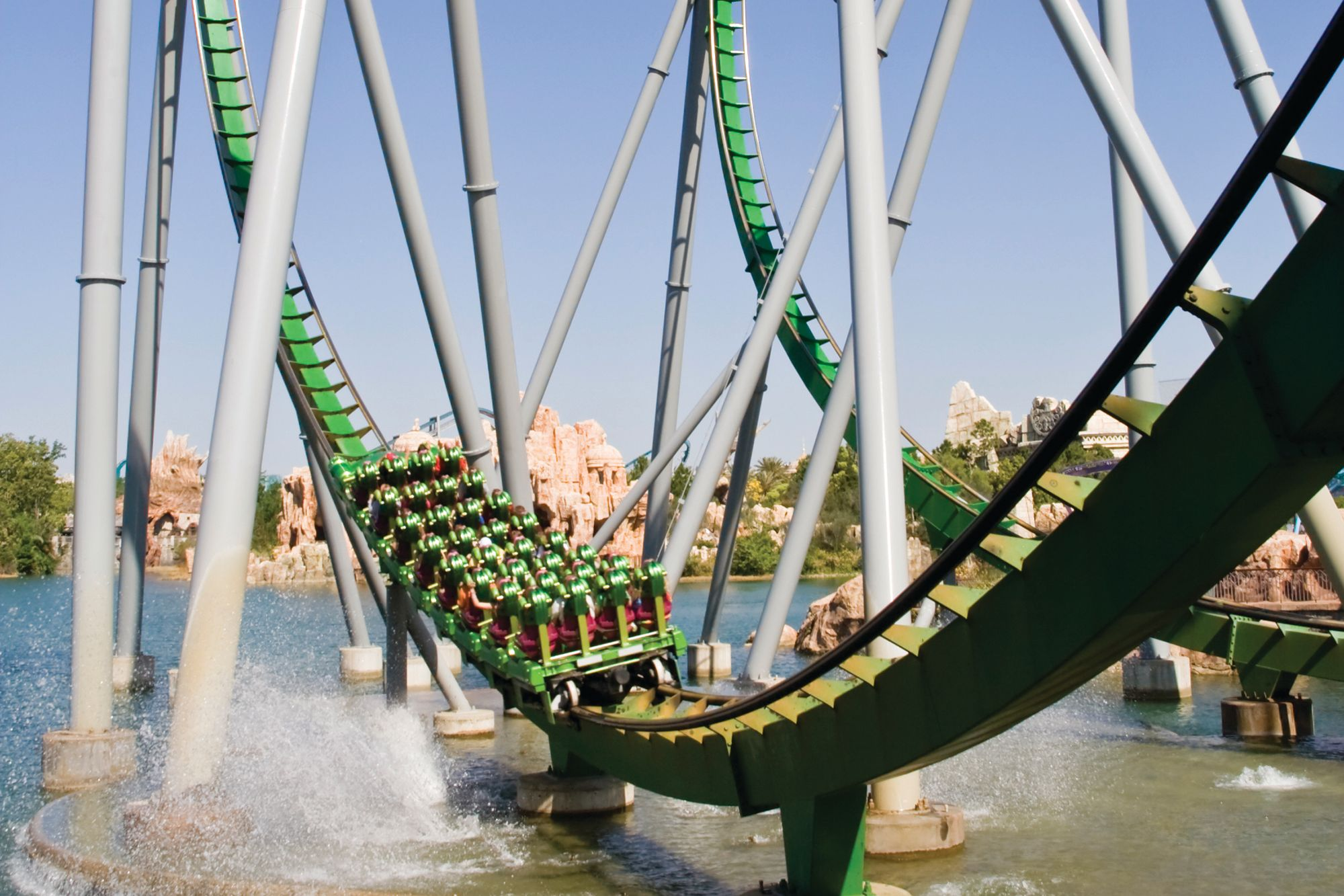 The Hulk rollercoaster at Universal's Islands of Adventure