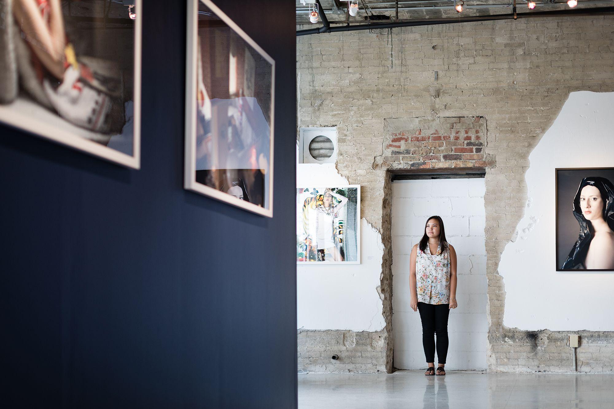 Cameron Robinson at her internship at Snap! Space, a downtown Orlando art gallery.