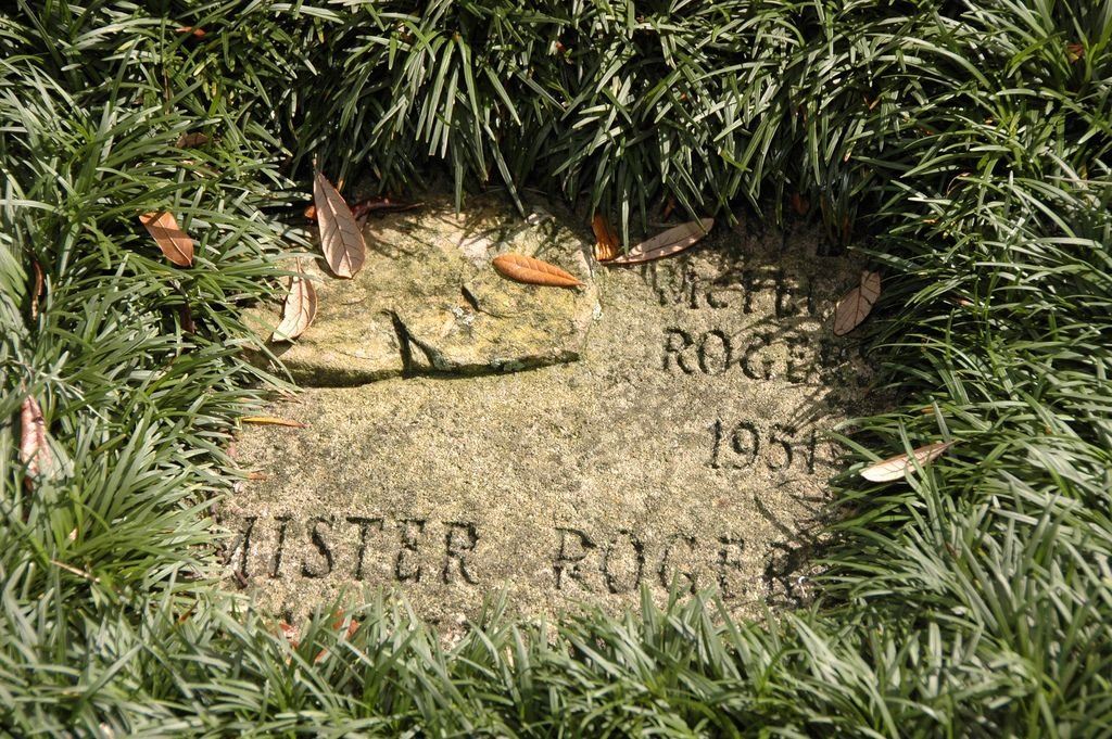 Mister Rogers' stone on the Rollins Walk of Fame.