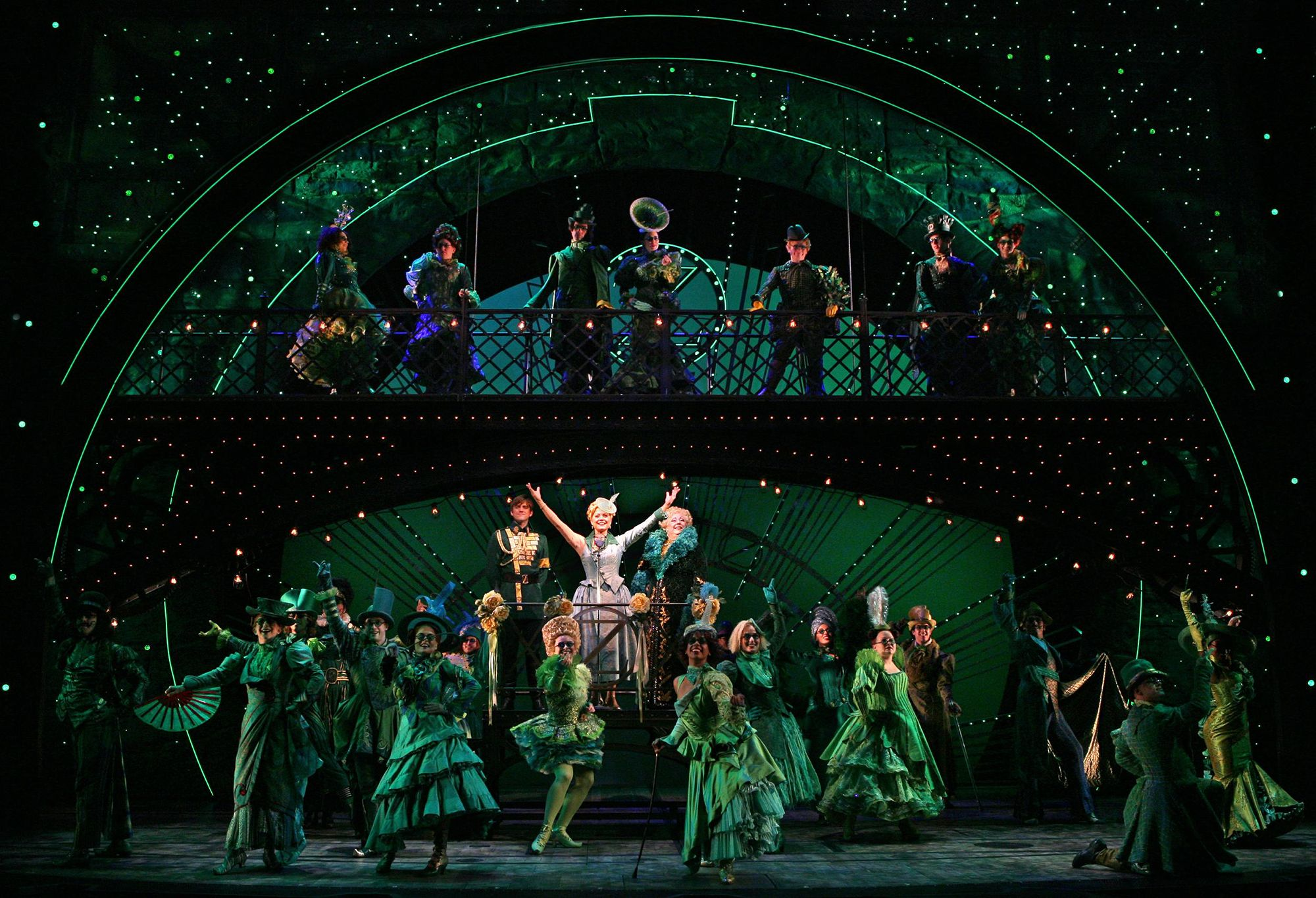 A performance of Wicked at the Dr. Phillips Center for the Performing Arts.