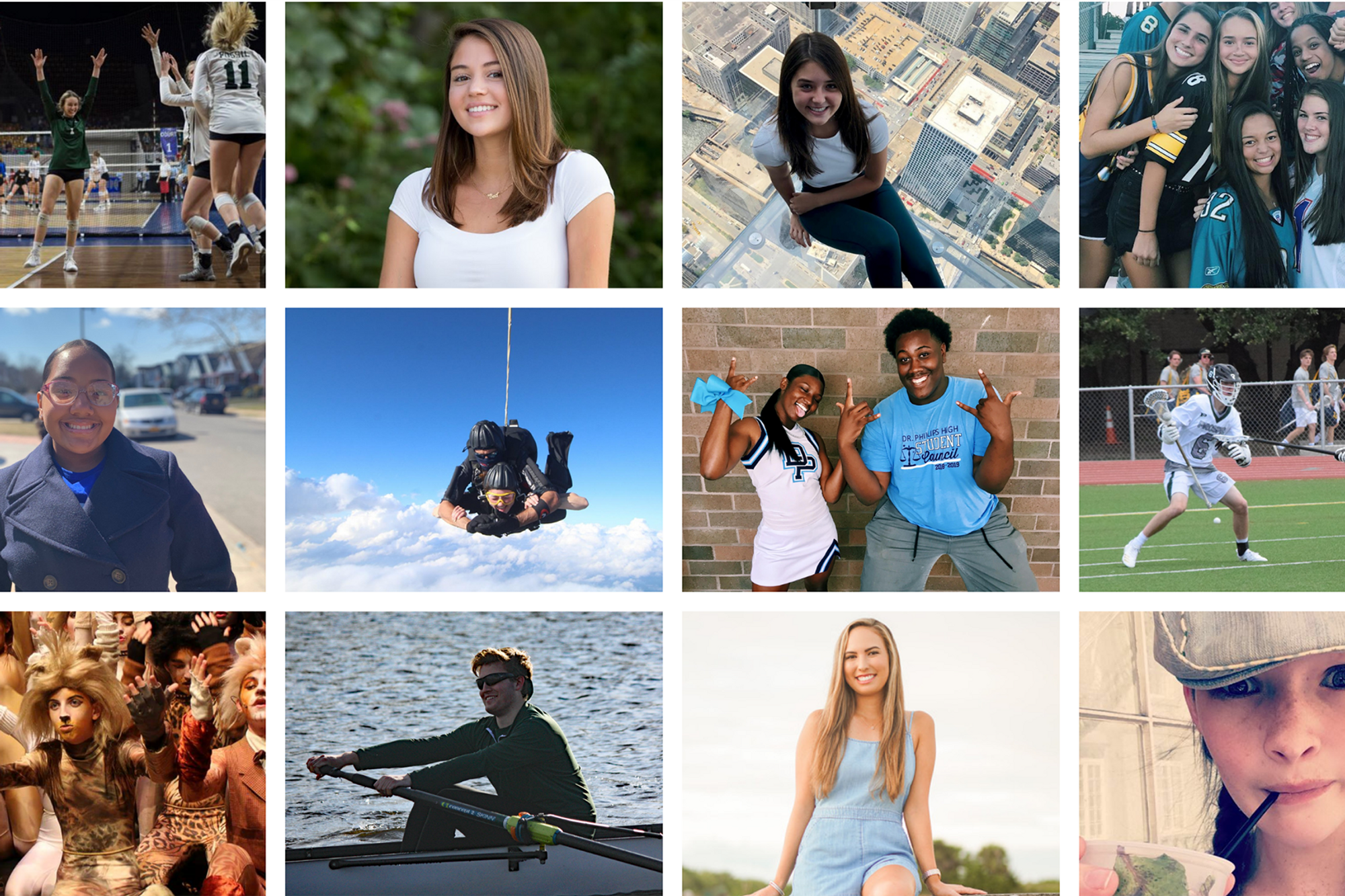 A collage of students who have chosen Rollins.