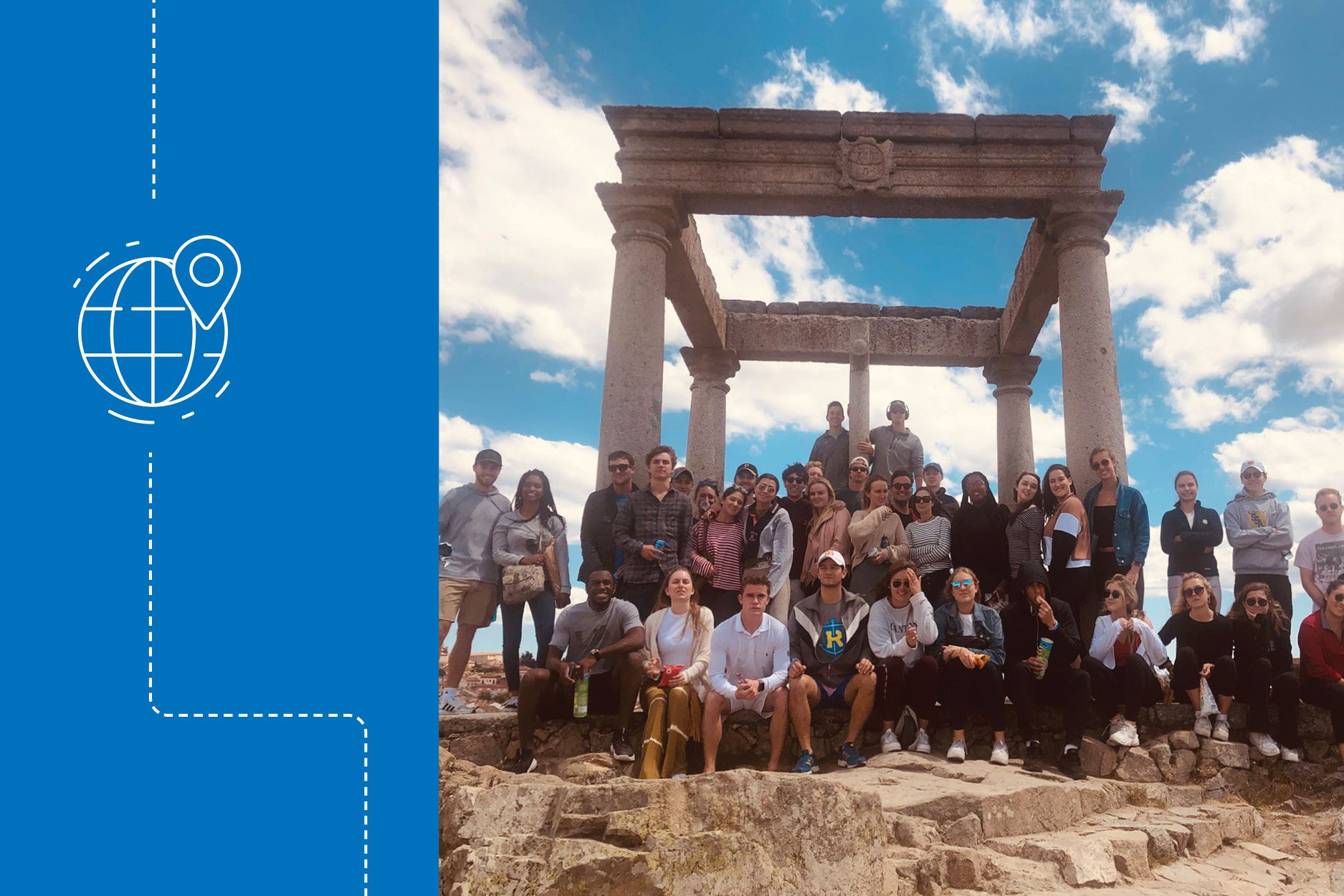 Shannon Sullivan and fellow classmates studying abroad in Spain.