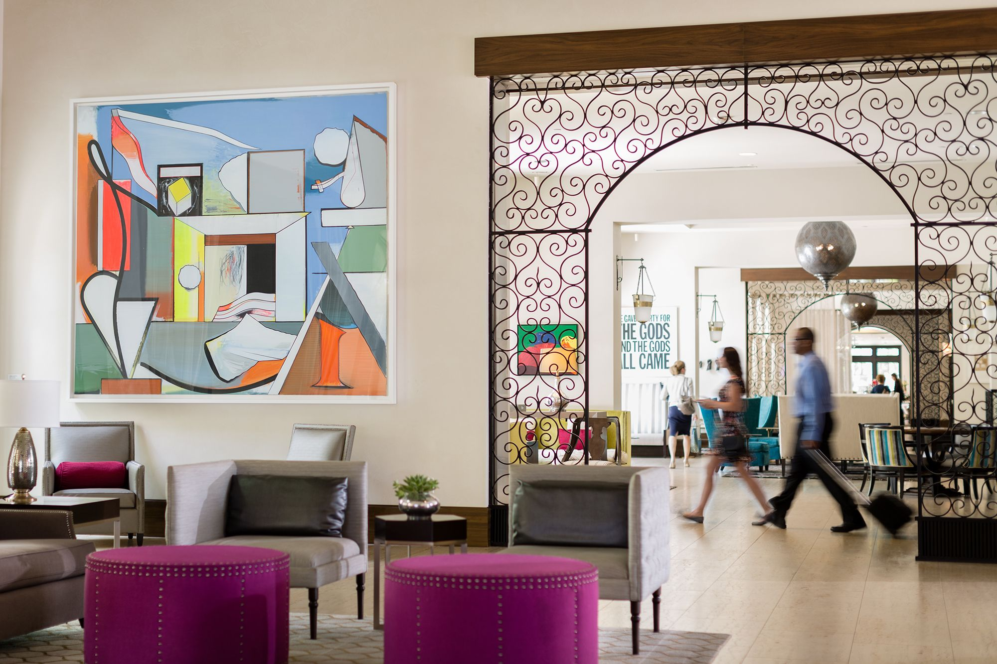 The lobby of The Alfond Inn at Rollins