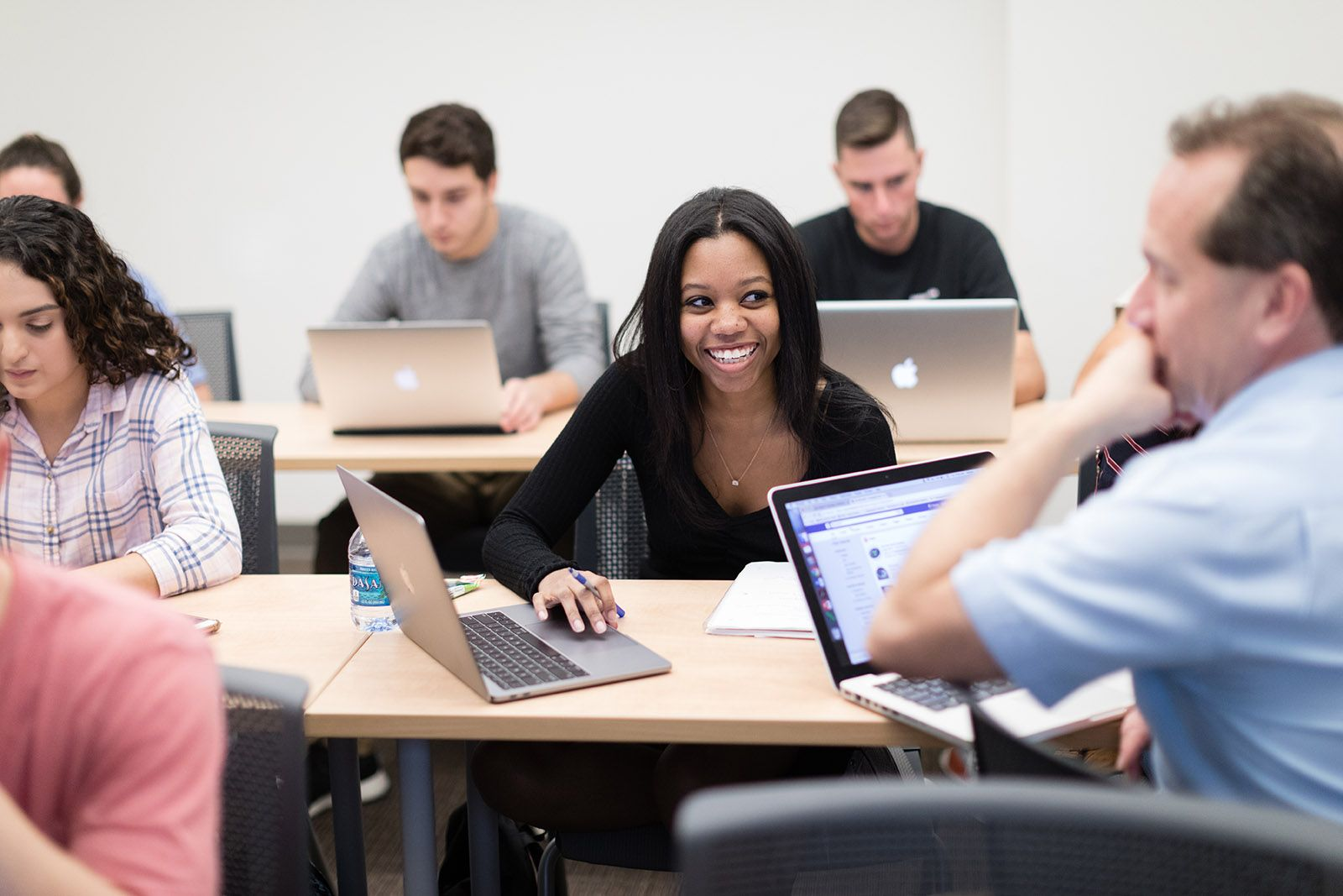 Rollins students hard at work in class.