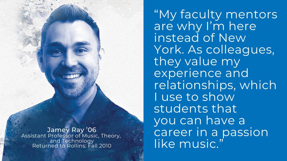 Music professor Jamey Ray '06