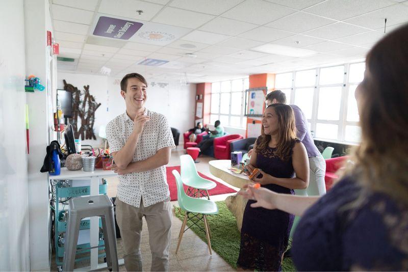 Social Entrepreneurship majors in a classroom.