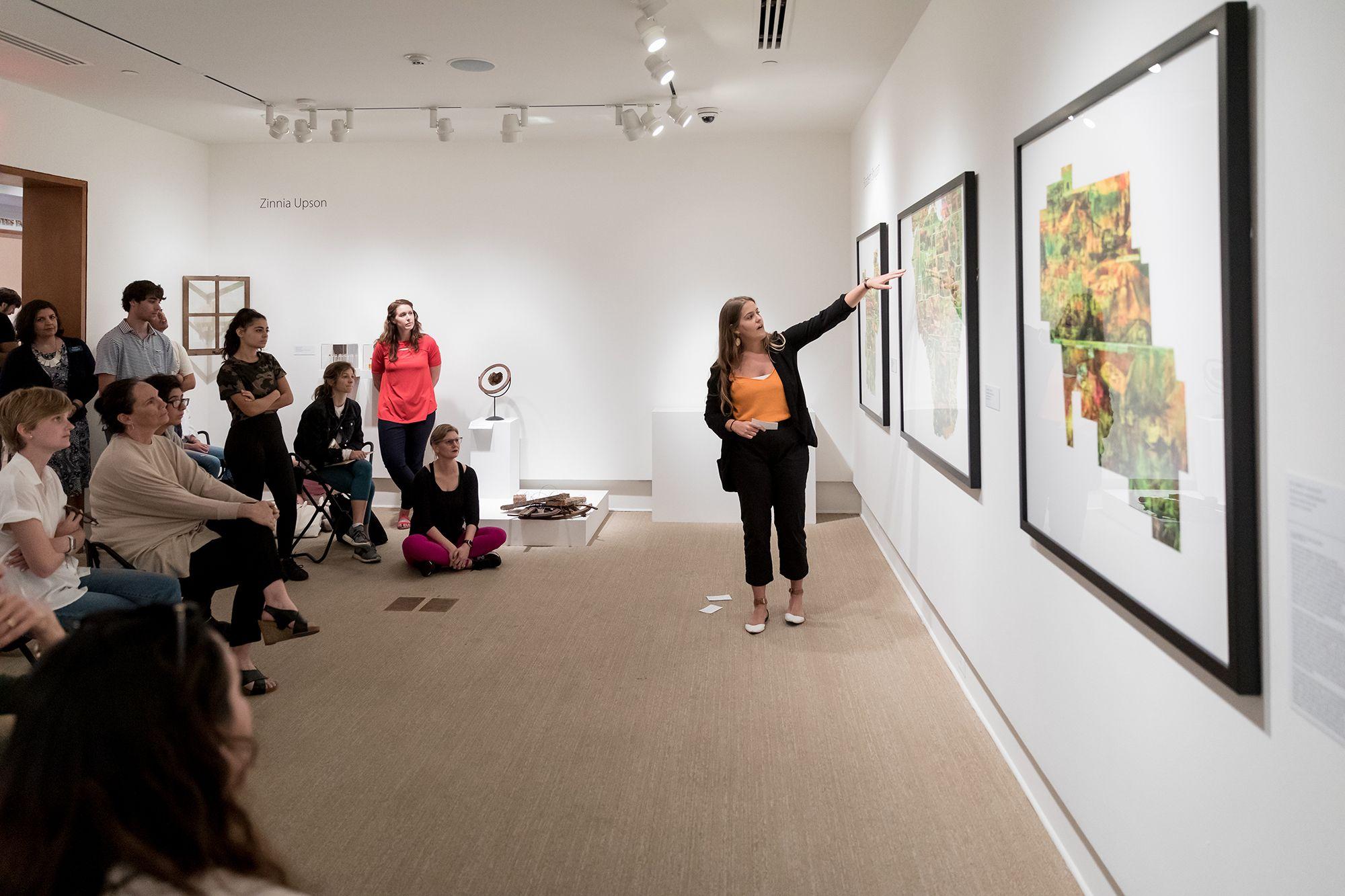 Rollins student presents original artwork at Cornell Fine Arts Museum.