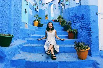 Renee Sang '20 exploring Morocco during an internship for the Morocco World News.