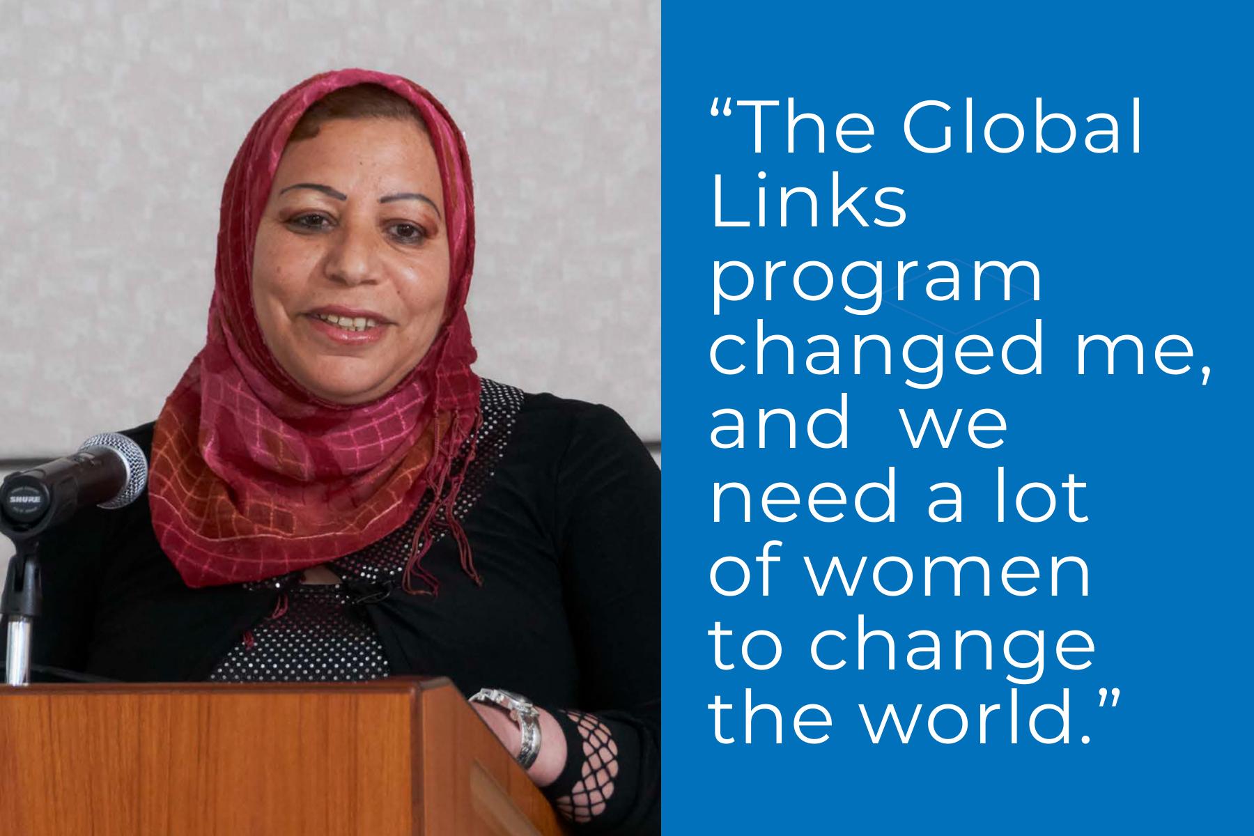 Global Links Scholar Amel Abed Mohammed-Ali