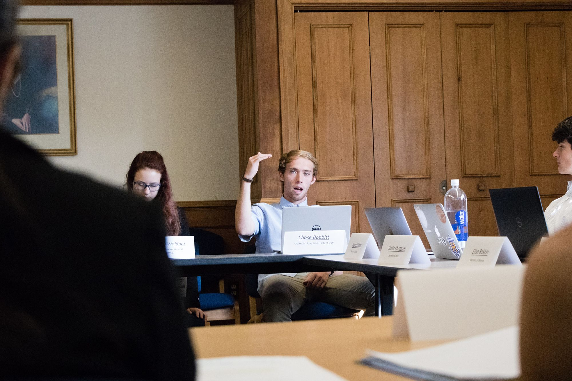 A student participated in a model United Nations during his Globalization course.