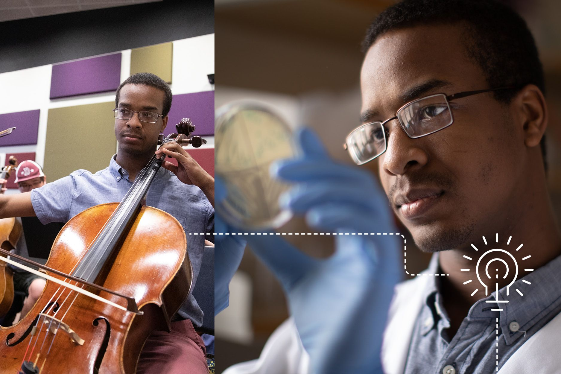 Brandon McNichol majored in both biochemistry and music at Rollins.