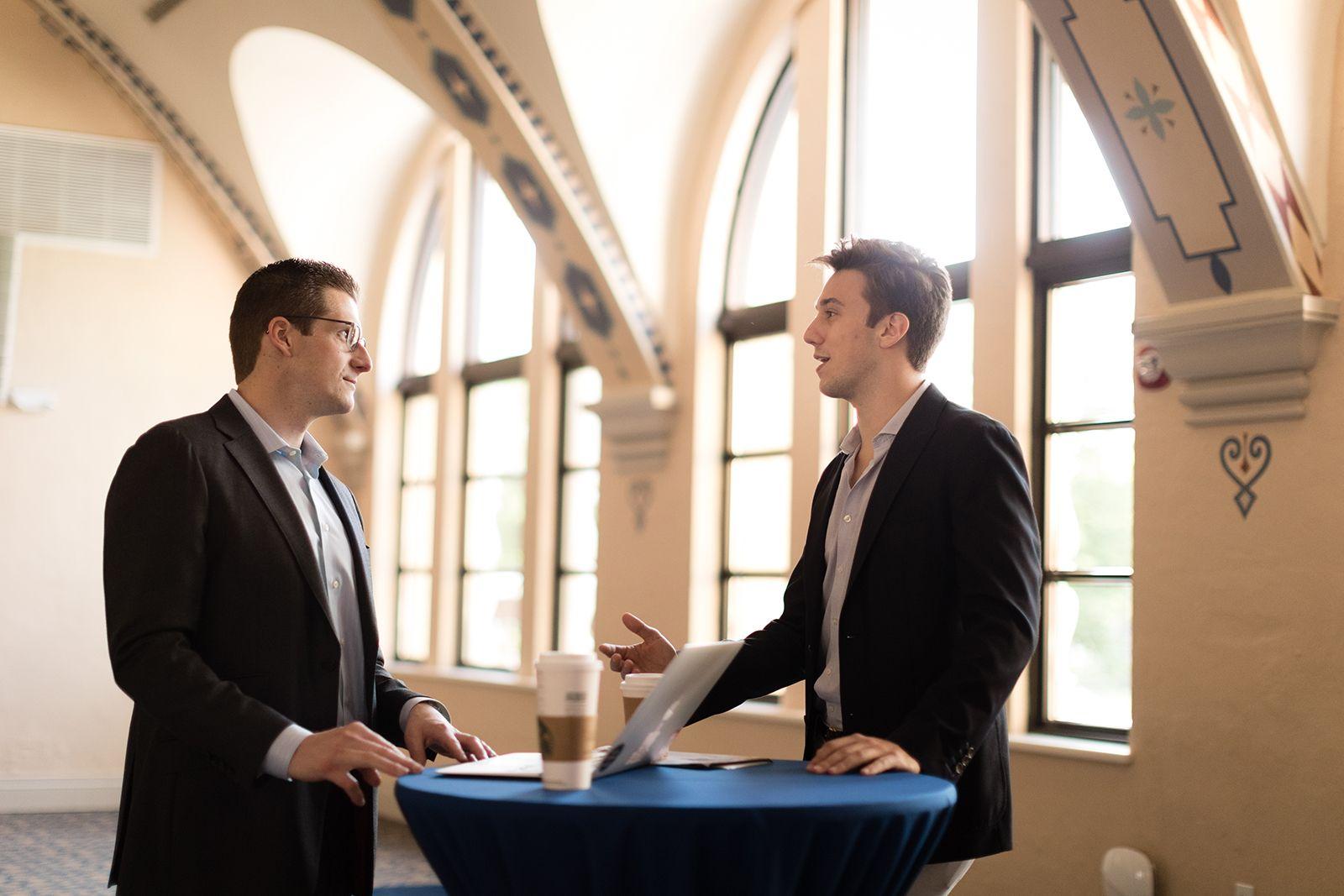 Brandon Burns '08 '09MBA and Harrison Loew '21 discuss careers in finance.