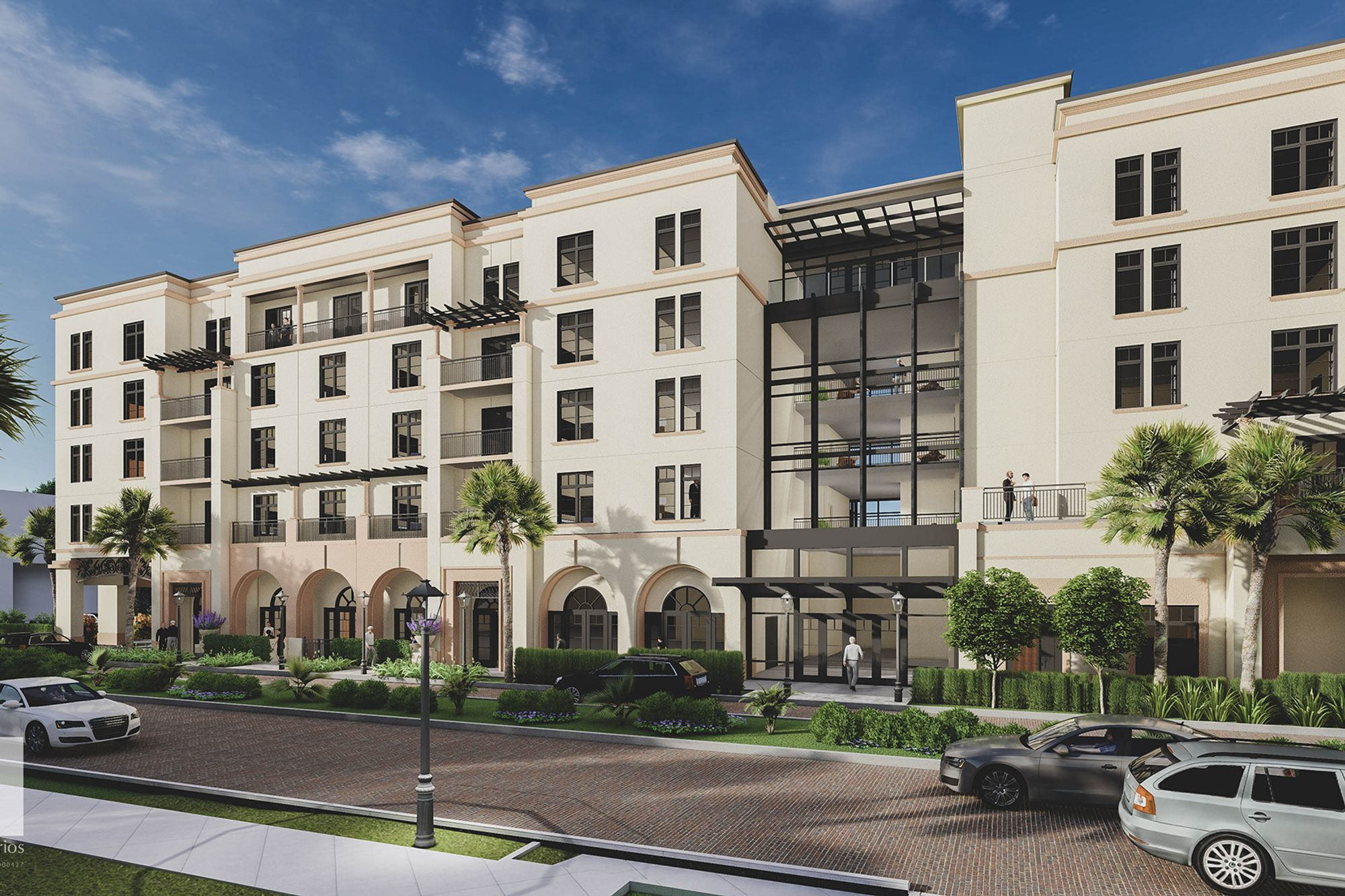 Rendering of the front exterior of the new Alfond Inn expansion.
