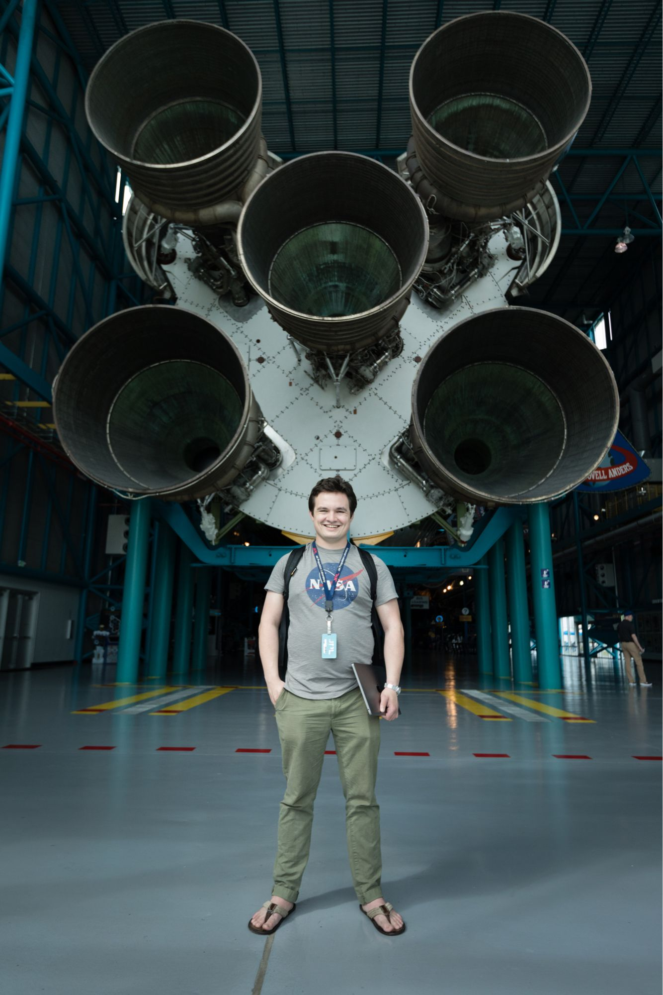 A computer science college student beginning his career at NASA.