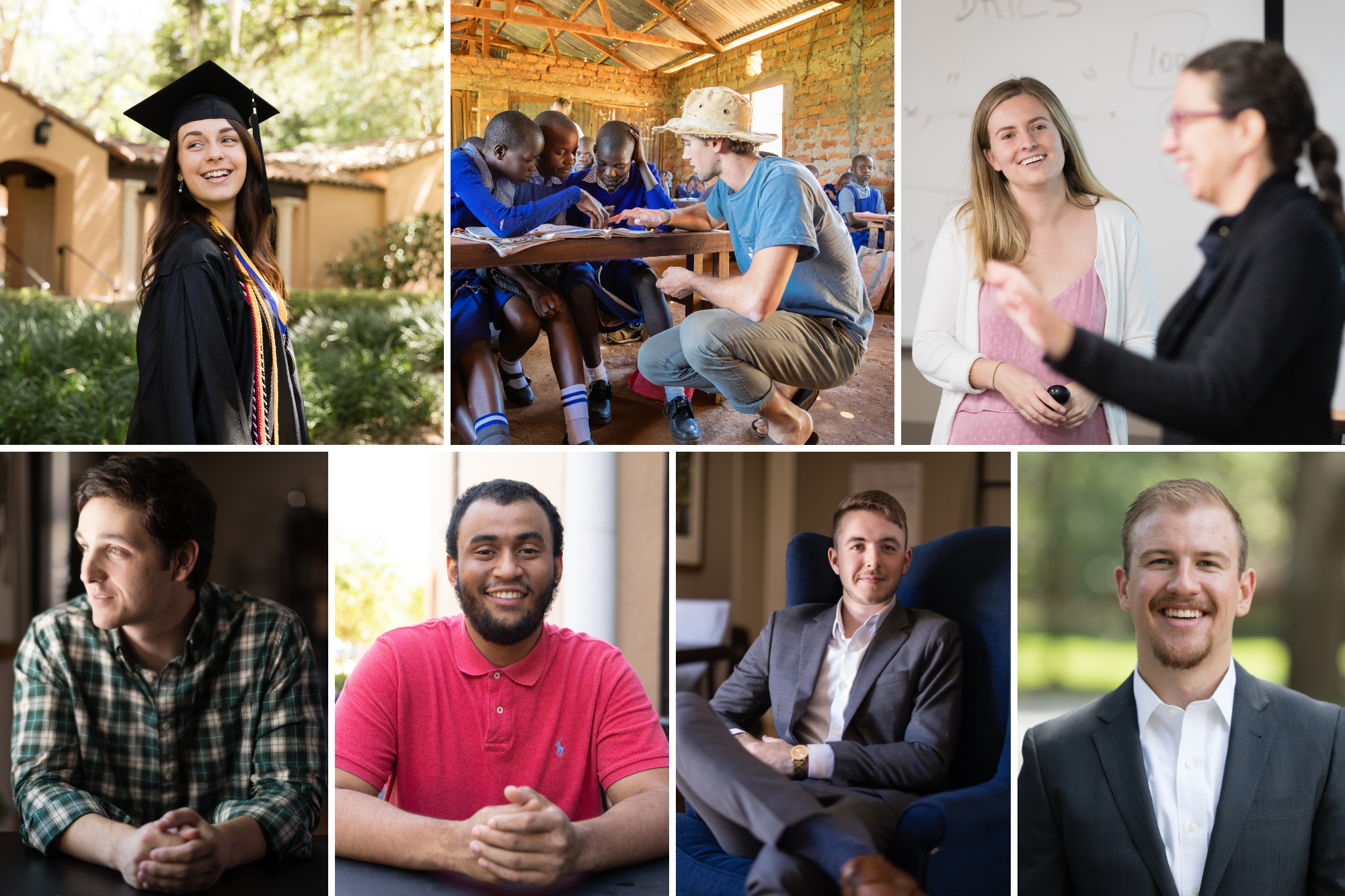 Portraits of Rollins Fulbright Scholars