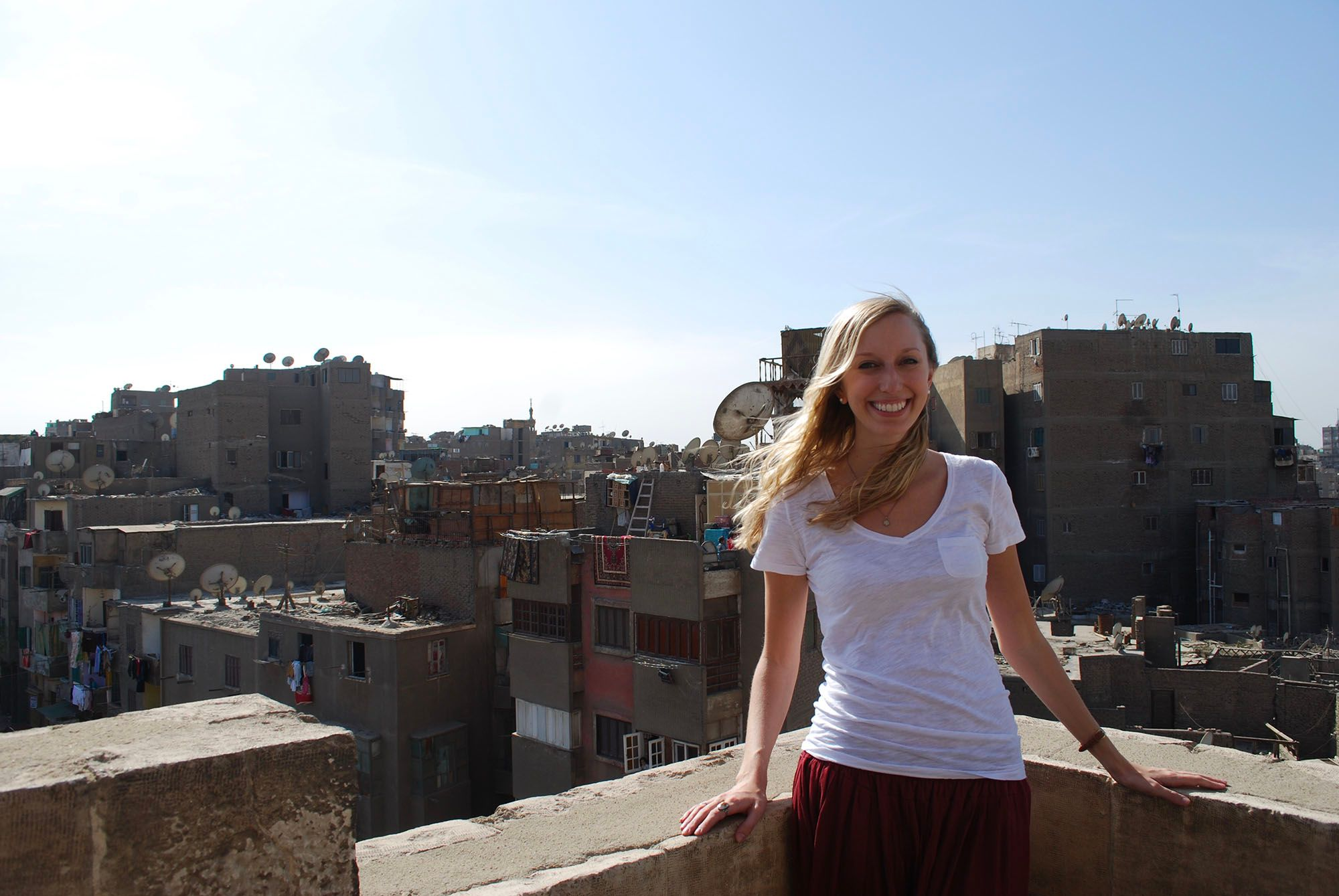 Kate Osterloh '09 during a study abroad experience.