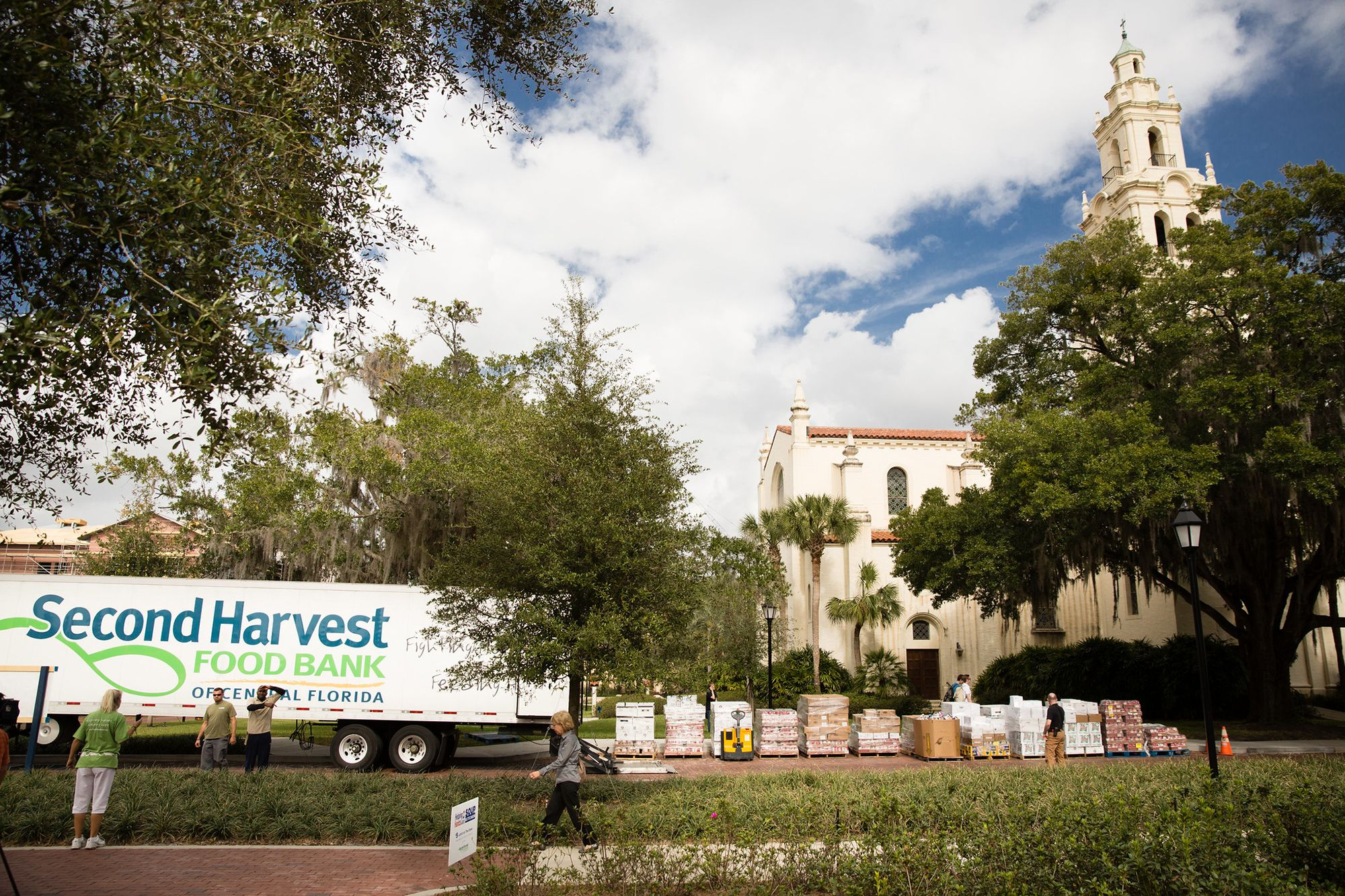 Second Harvest Food Bank parked on campus for a community event.