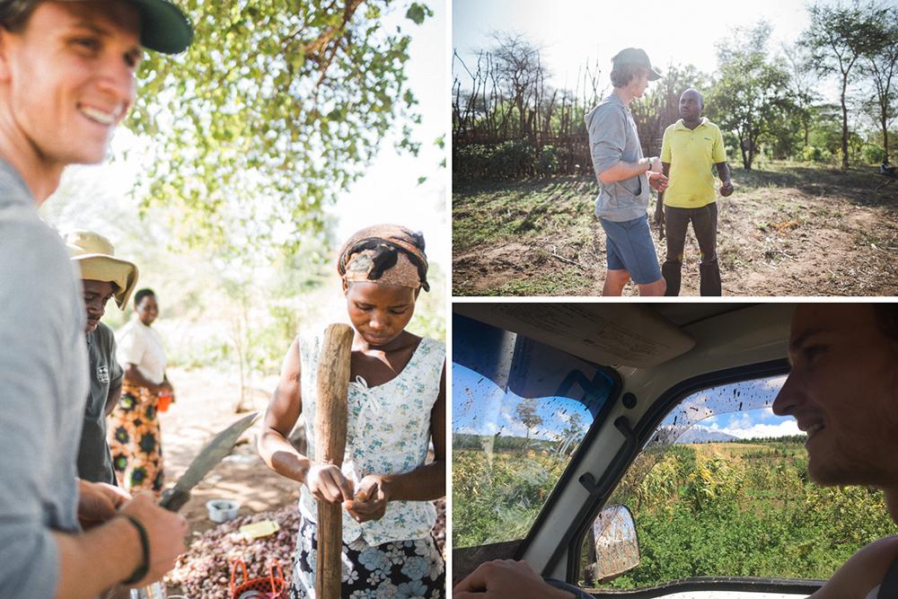 Sam Barns in Mkyashi, Tanzania