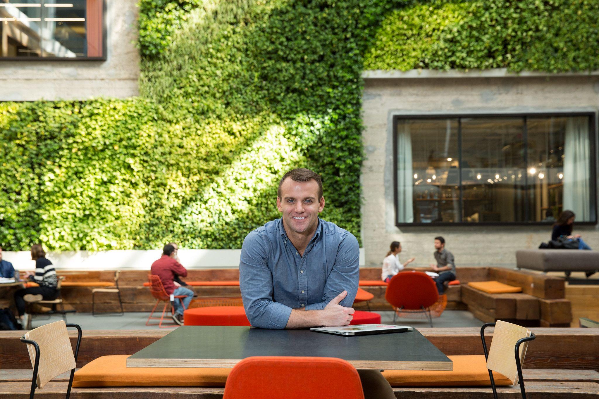 Pierce Neinken at Airbnb offices