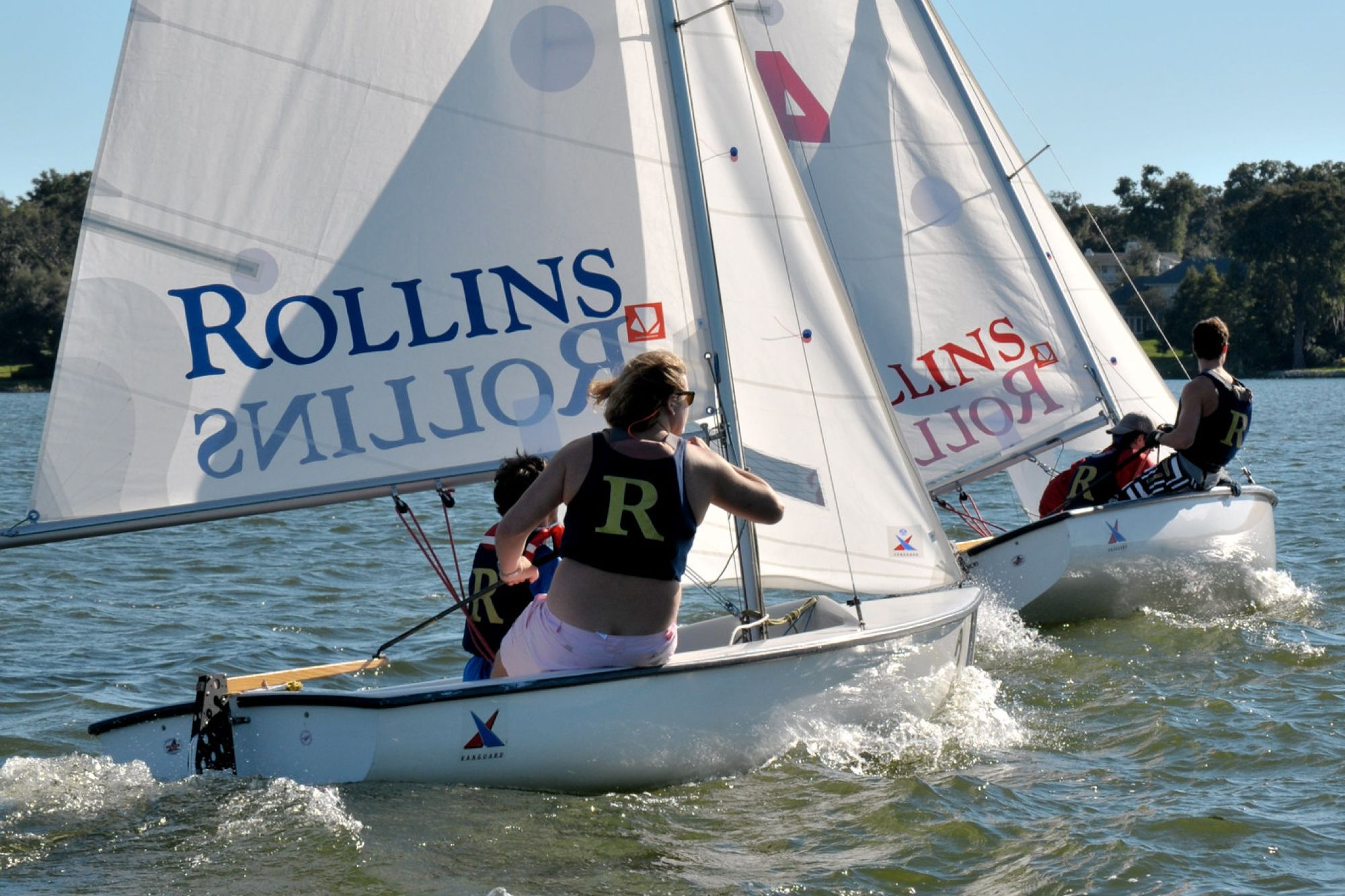 Competitive sailing in Lake Virginia.