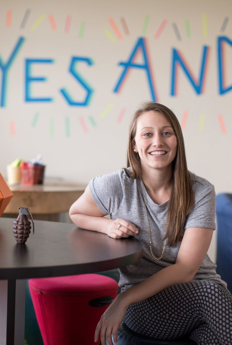Alexis Meeks '16 at AdventHealth Innovation Lab.