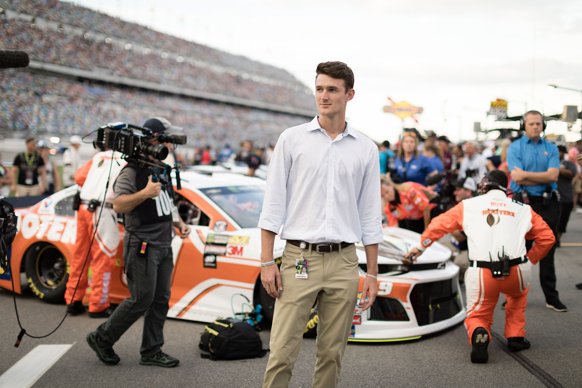 Ryan O'Donnell on the track at NASCAR.