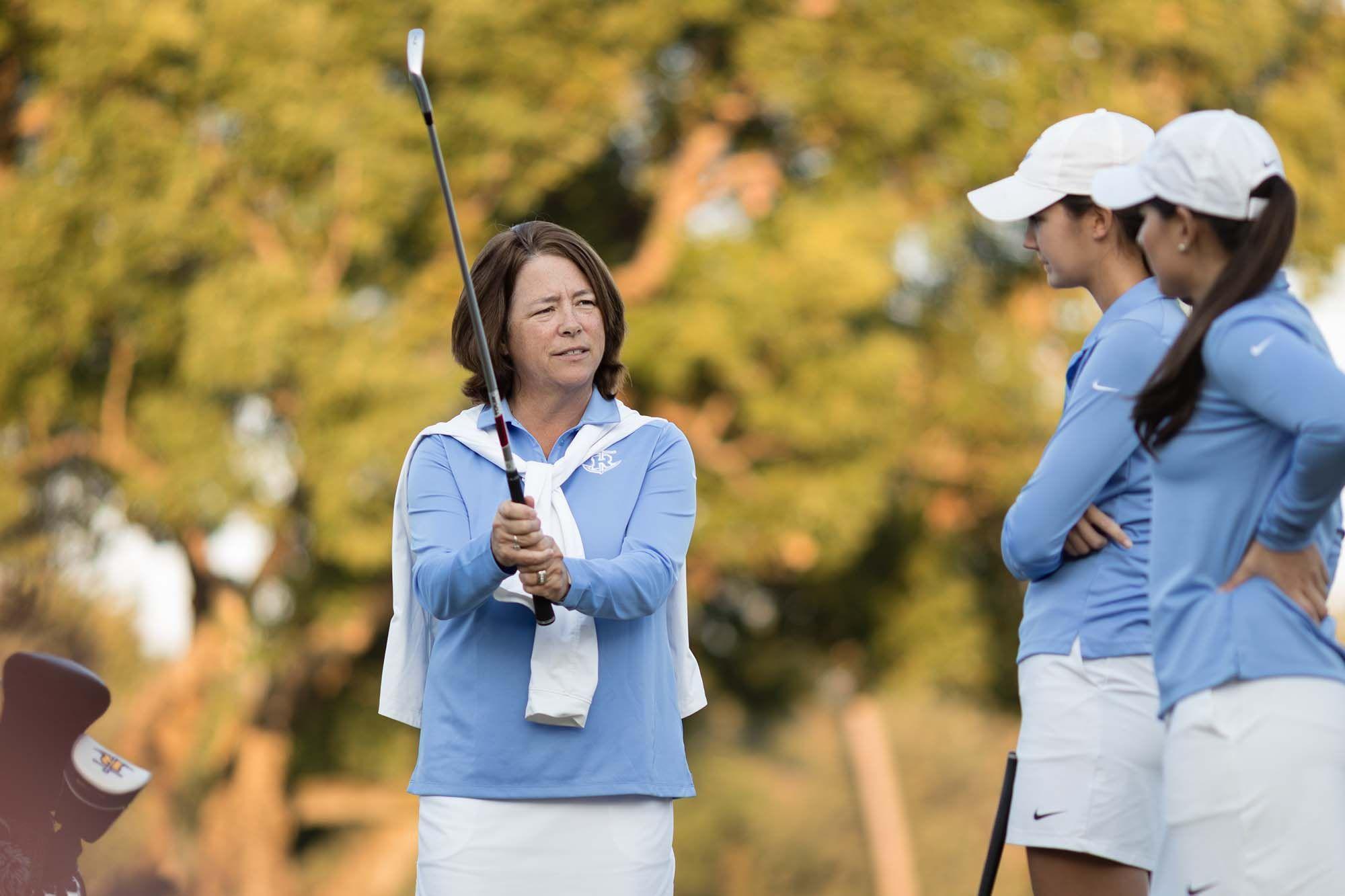 Head women's golf coach Julie Garner.