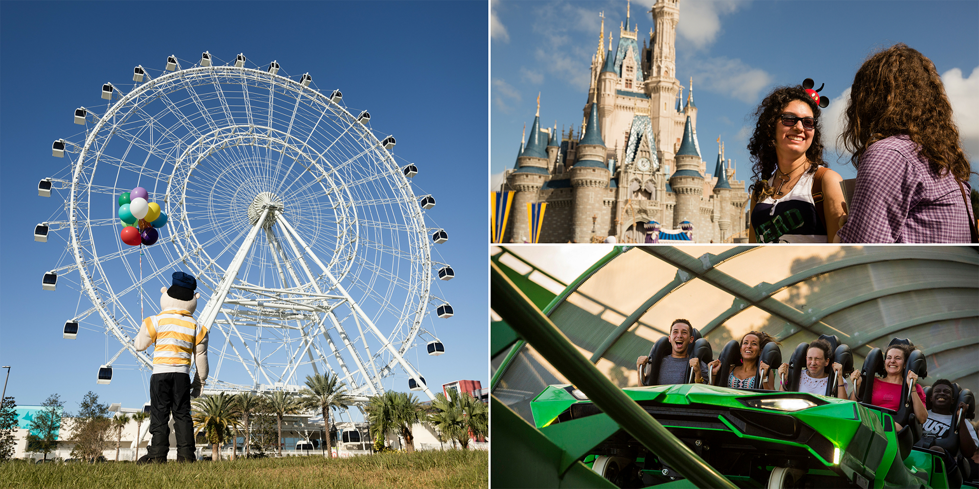 Orlando area theme parks and attractions