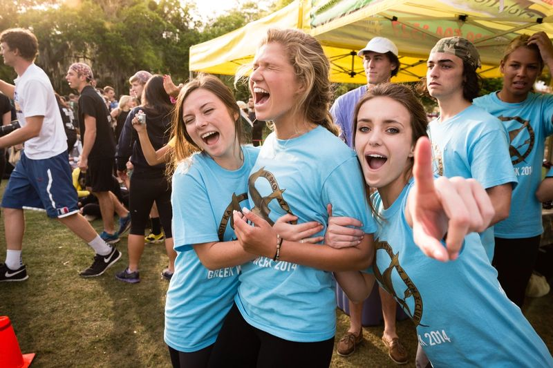 Rollins students celebrate Greek Week 2014.