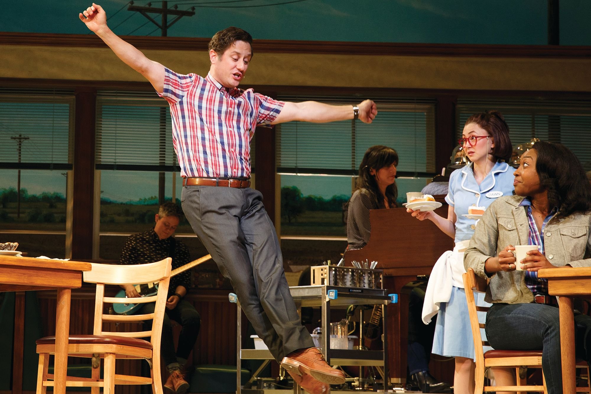 Christopher Fitzgerald '95 in the Broadway production of Waitress.